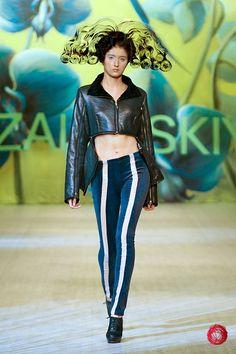 Pants with stripe.  Zalevskiy; Ukrainian fashion week 2012.