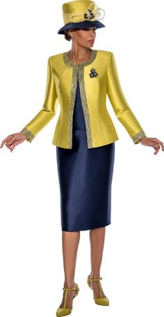 Check out the deal on Terramina 7637 Ladies Two Tone Church Suit at French Novelty