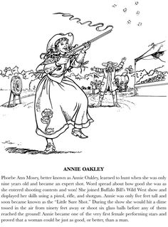 oakley sunglasses coloring pages | annie oakley pictures to print