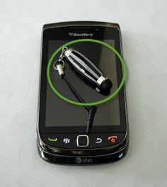 Zebra Look Mini Stylus Geekery Tech Savvy Gadget by craftcrazy4u, $17.00