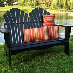 One day I will have this double adirondack chair for my future firepit Adirondack Furniture, Adirondack Chairs, Garden Furniture, Diy Furniture, Outdoor Furniture, Outdoor Seating, Outdoor Rooms, Outdoor Living, Outdoor Decor