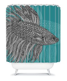 Take a look at this Beta Fish Shower Curtain by DENY Designs on #zulily today!