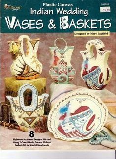 Plastic Canvas 203020 Vases Baskets Indian Wedding