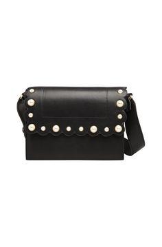 Sac besace perle noir - sacs femme - naf naf 1