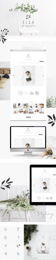 Branding for Elza photographie by Ryn Frank