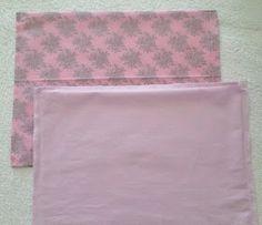 COMO FAZER UMA NECESSAIRE DIFERENTE               MATERIAIS;     Tecidos com duas estampas;   Viés;   Manta acrílica;   Renda ou bordado;  ...