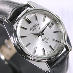 1970s Vintage King Seiko 5625A 56KS Hi-Beat Automatic Silver Dial Date Men's Dress Watch by LKWatch on Etsy