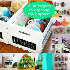 16 Budget Friendly Playroom Storage DIYs
