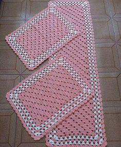 Crochet Table Mat, Crochet Placemats, Baby Blanket Crochet, Crochet Doilies, Crochet Baby, Crochet Rug Patterns, Doily Patterns, Crochet Designs, Stitch Patterns