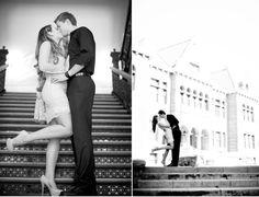 Holiday courthouse wedding