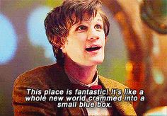 └ John Smith steps into the TARDIS for the first time.