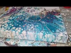 E11 Acrylic Pouring: Cobalt blue, Magenta, Burnt Umber, Flip Cup, Silicone, Floetrol - YouTube