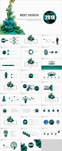 Infographic Design - Best business report annual Green white Design Powe on Behance - CoDesign Magazine Powerpoint Design Templates, Professional Powerpoint Templates, Powerpoint Themes, Ppt Design, Slide Design, Keynote Design, Powerpoint Presentations, Sales Presentation, Corporate Presentation