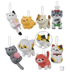 Neko Atsume Merchandise super cute kawaii cat charms for your bag or phone