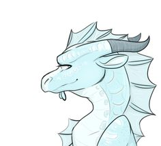 A random SeaWing. Sometimes I feel really bad about my drawings, my drawings of people mostly, but dragons are something I can always draw.