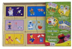 Combination Game Tables for Kids - Sesame Street 4 Wood Game *** To view further for this item, visit the image link.