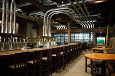 beer lines from kegs become art at craft pub