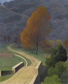 Félix Vallotton (Swiss, 1865-1925), Pont sur le béal, 1922. Oil on canvas, 73 x…