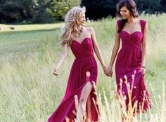 @roressclothes closet ideas #women fashion outfit #clothing style apparel Fuscia Bridesmaid Dresses