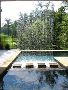 Pool Waterfalls Ideas download this swimming pools with waterfalls bar stools pool picture Stunning Pool With Sprinkler Water Feature