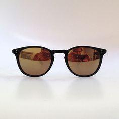 Garrett Leight - Custom - Kinney 49 Black with Rolex Mirror Lenses
