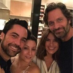 Danny Pino with his wife and Mariska Hargitay with her husband Peter Hermann