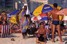 Young people recreating at Ipanema beach, Rio de Janeiro, Brazil. Lifestyle with a modern feel