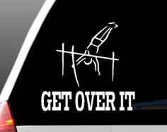 Pole Vault, Car Window Decals, Vaulting, Get Over It, Notes, Messages, Track, Cricut, Craft Ideas