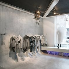 fashion store in Belgrade, Serbia, designed by architect Irena Kilibarda of Dsigned By for fashion designer Tamara Radivojevic.