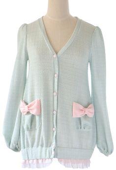 cute pastel ribbon cardigan