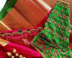 Best Blouse Designs, Simple Blouse Designs, Sari Blouse Designs, Designer Blouse Patterns, Bridal Blouse Designs, Mirror Work Blouse, Maggam Work Designs, Back Neck Designs, Hand Designs