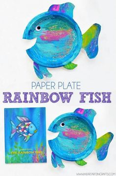 Paper Plate Rainbow Fish Craft - I Heart Arts n Crafts Rainbow Fish Paper Plate Craft For Kids Want fantastic tips and hints on arts and crafts? Head to my amazing info! Paper Plate Crafts For Kids, Easy Crafts For Kids, Book Crafts, Toddler Crafts, Art For Kids, Arts And Crafts, Quick Crafts, Kid Art, Kids Diy