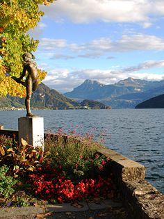 Lake Lucerne Switzerland at Weggis