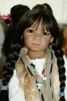 Himstedt Native American doll