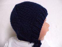 Babymütze Schurwolle 35-38cm gestrickt Wolle Baby