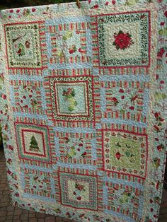 Home For The Holidays Christmas Quilted Lap by WoodenNeedleNook, $225.00