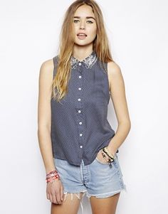 Minkpink Sleeveless Shirt