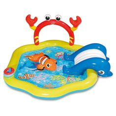Summer Waves Inflatable Under The Sea Kiddie Swimming Pool Play Center W/ Slide : Target Pool Water Slide, Swimming Pool Water, Water Slides, Pool Slides, Water Play, Lake Floats, Pool Floats, Dinosaur Play, Pool Rafts