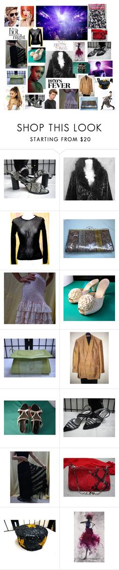 """A ""VINTAGE"" PROM"" by blingblingfling ❤ liked on Polyvore featuring Sebastian Professional, Dolce&Gabbana, Kookaï, Quinto, Fiorucci and vintage"