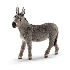 Amazon.com: Schleich Donkey Figurine Toy Figure: Toys & Games