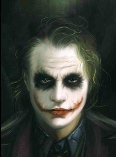 Fan Art of Heath Ledger as The Joker. (A Dark Knight)