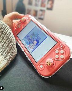 Nintendo Lite, Nintendo Switch Case, Japanese Aesthetic, Aesthetic Anime, Kawaii Games, Nintendo Switch Animal Crossing, Pink Games, Nintendo Switch Accessories, Otaku Room