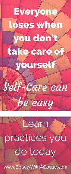 Mom's often take care of everyone but themselves. Everyone loses when you ignore your own needs. Learn simple self-care practices you can do that don't take too much time.