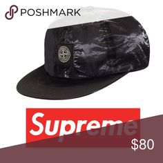d9897d20f143 24 hour sale Authentic SUPREME SIX PANEL SILK HAT Supreme Stone Island  Colab w Supreme in