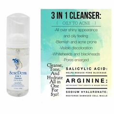 SeneGence 3 in 1 Cleanser Oily to Acne LipSense and SeneGence products. Email me at jcwells69@gmail.com. Or check out my FB page at facebook.com/KissandMakeupinIndiana. Christy Watts Independent Distributor #366038.