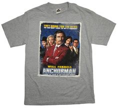 Anchorman Ron Burgundy Poster Vintage Style Funny Movie T-Shirt Tee Movie T Shirts, Funny Shirts, Tee Shirts, Vintage Style, Vintage Fashion, Ron Burgundy, Poster Vintage, Funny Movies, Vintage Movies