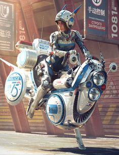 Klyo in Cyberpunk form Arte Sci Fi, Sci Fi Art, Arte Cyberpunk, Character Concept, Character Art, Concept Art, Sci Fi Kunst, Science Fiction Kunst, Arte Robot