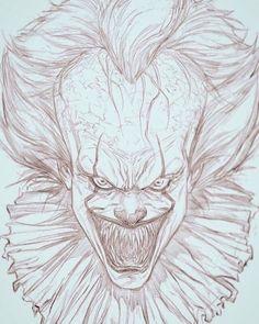 """Bill Skarsgard-Pennywise digital sketch on the Ipadpro and Procreate app. Sketch by me "" dibujos miedo Clair Johnson Badass Drawings, Demon Drawings, Creepy Drawings, Dark Art Drawings, Pencil Art Drawings, Cute Drawings, Drawing Sketches, Horror Drawing, Horror Artwork"
