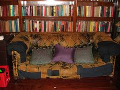 China club library and a sofa