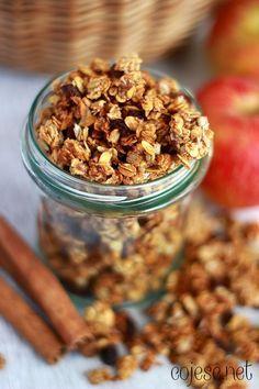 Granola jabłkowa, czyli szybkie i zdrowe śniadanie w minutę | Zdrowe Przepisy Pauliny Styś
